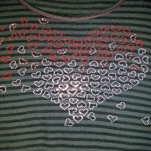 ❤ Live and Let Live Heart top Sz 3X ❤